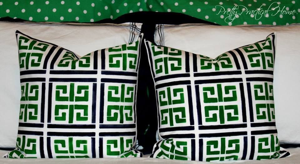 Do these green and black Athena stenciled accent pillow make you feel green with envy?  Check out this Stencil!!  http://www.cuttingedgestencils.com/athena-stencil-paint-a-pillow-kit.html?utm_source=JCG&utm_medium=Pinterest&utm_campaign=Athena%20DIY%20ACCENT%20PILLOW%20STENCIL%20KIT