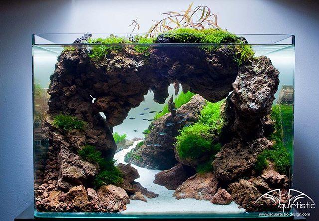 Stunning Mountain Under Water Aquariumdays Aquascape Aquarium Landscape Aquascape Aquarium