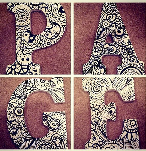 Decorative personalized letter wall hangings by