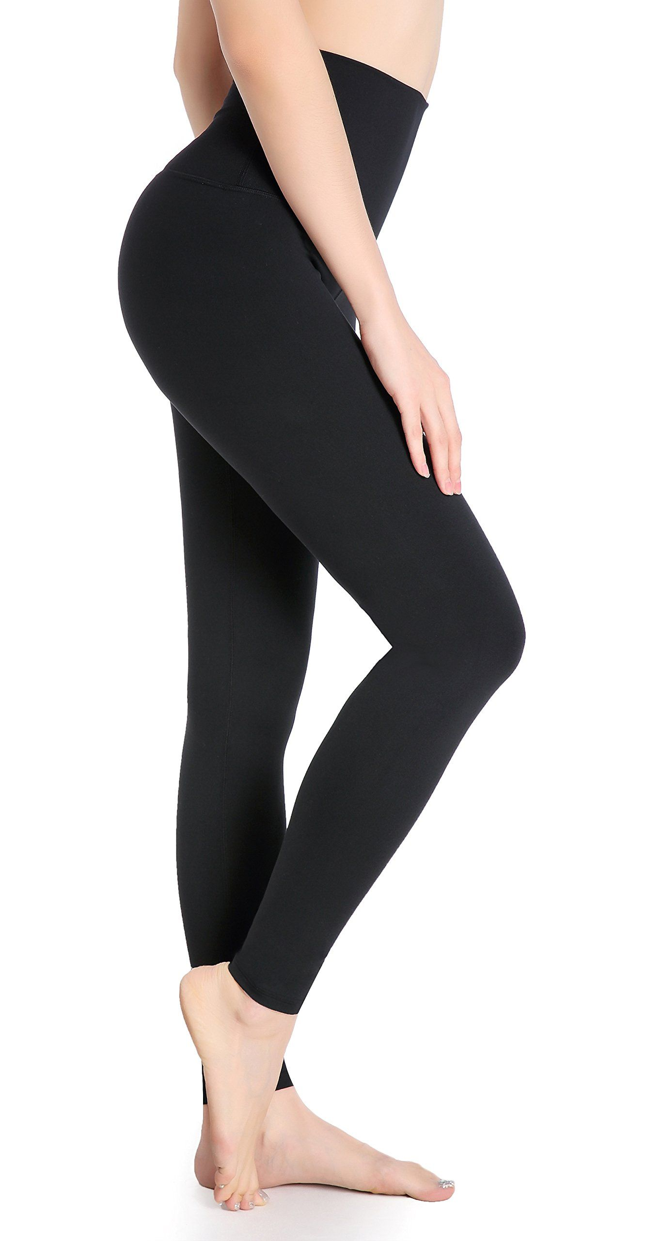 0e5ec5d1af8fa DeepTwist Womens Yoga Pants High Waisted Leggings Active Workout Tights  with Tummy Control Black