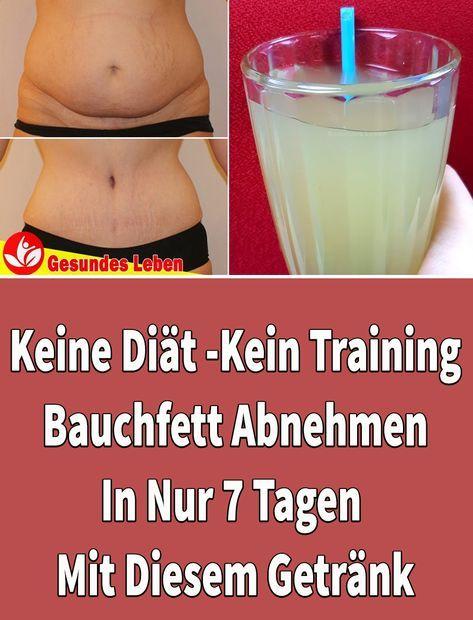 Keine Diät, Kein Training: Bauchfett Abnehmen In Nur 7 Tagen Mit Diesem Getränk
