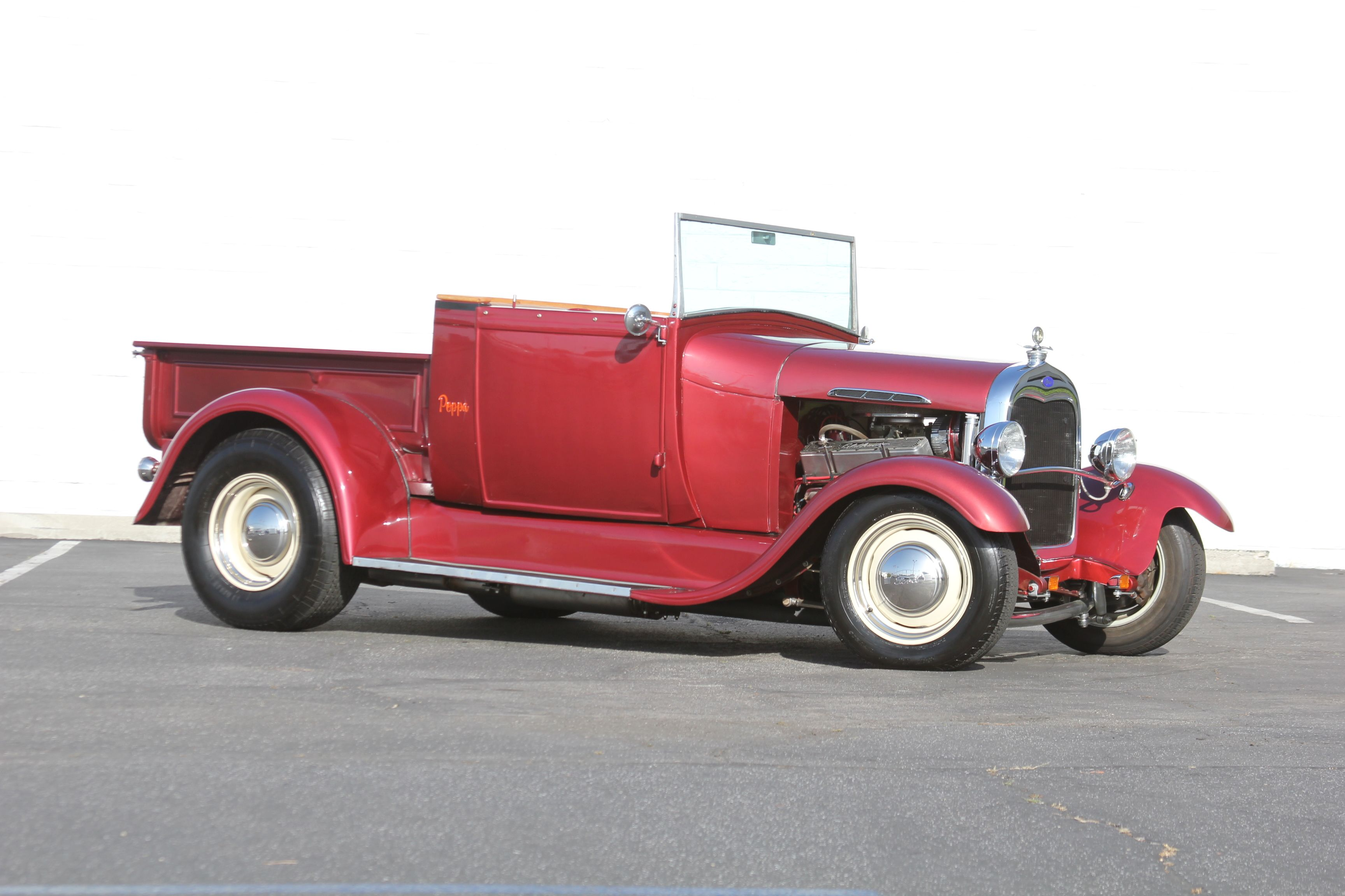 Here is a 1929 Ford Model a roadster pick-up with a 400 ci small ...