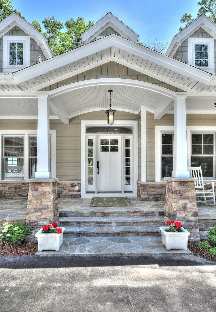 Home Ideas Exterior Homes And House Beautiful: 80+ Elegant Wooden And Stone Front Porch Ideas