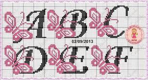 Resultado de imagem para monograma ponto cruz com borboletas