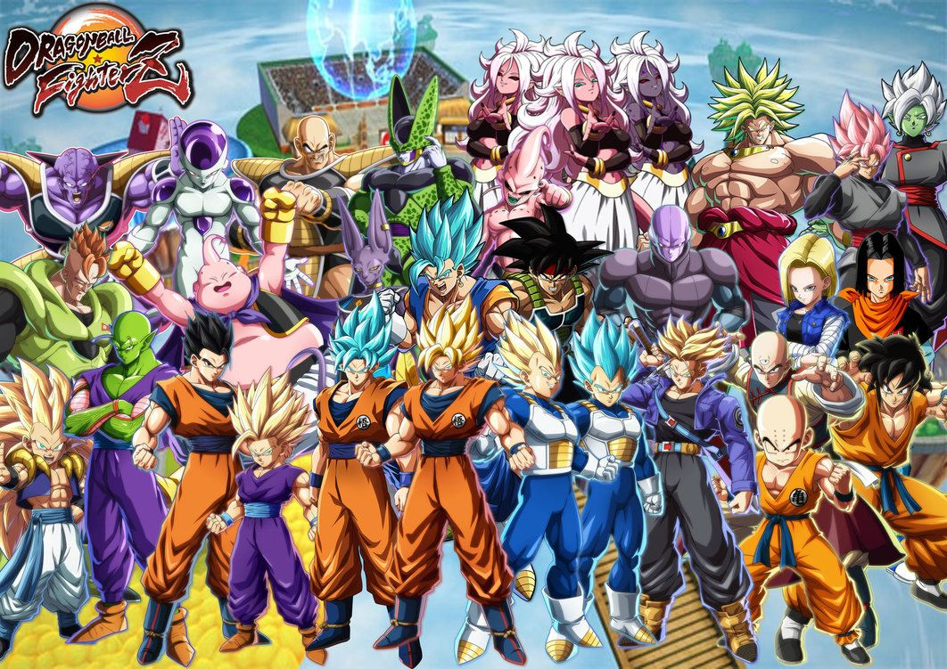 Dragon Ball FighterZ all characters so far by https