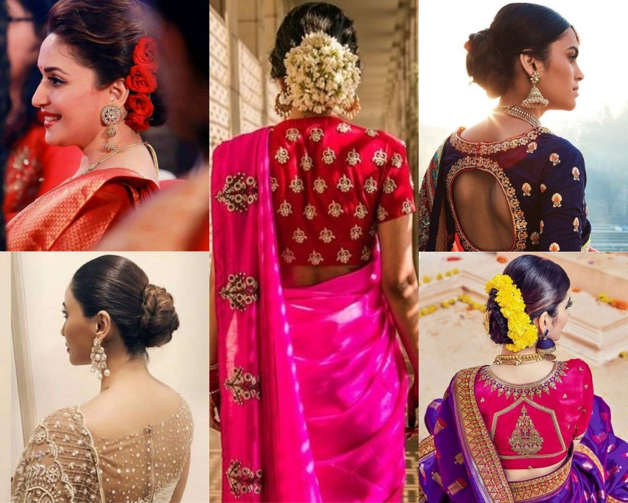 Amazing Ways To Wear Hair Buns With Traditional Sarees Hair Style On Saree Bun Hairstyles Saree Hairstyles
