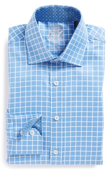 English Laundry Trim Fit Check Dress Shirt Mens Shirt Dress