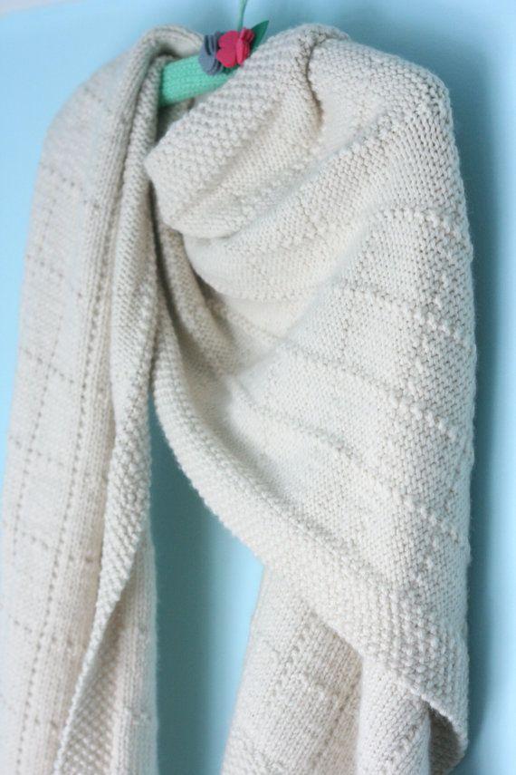 Simple Shawl Pattern via Etsy | knitting | Pinterest | Chal, Tejido ...