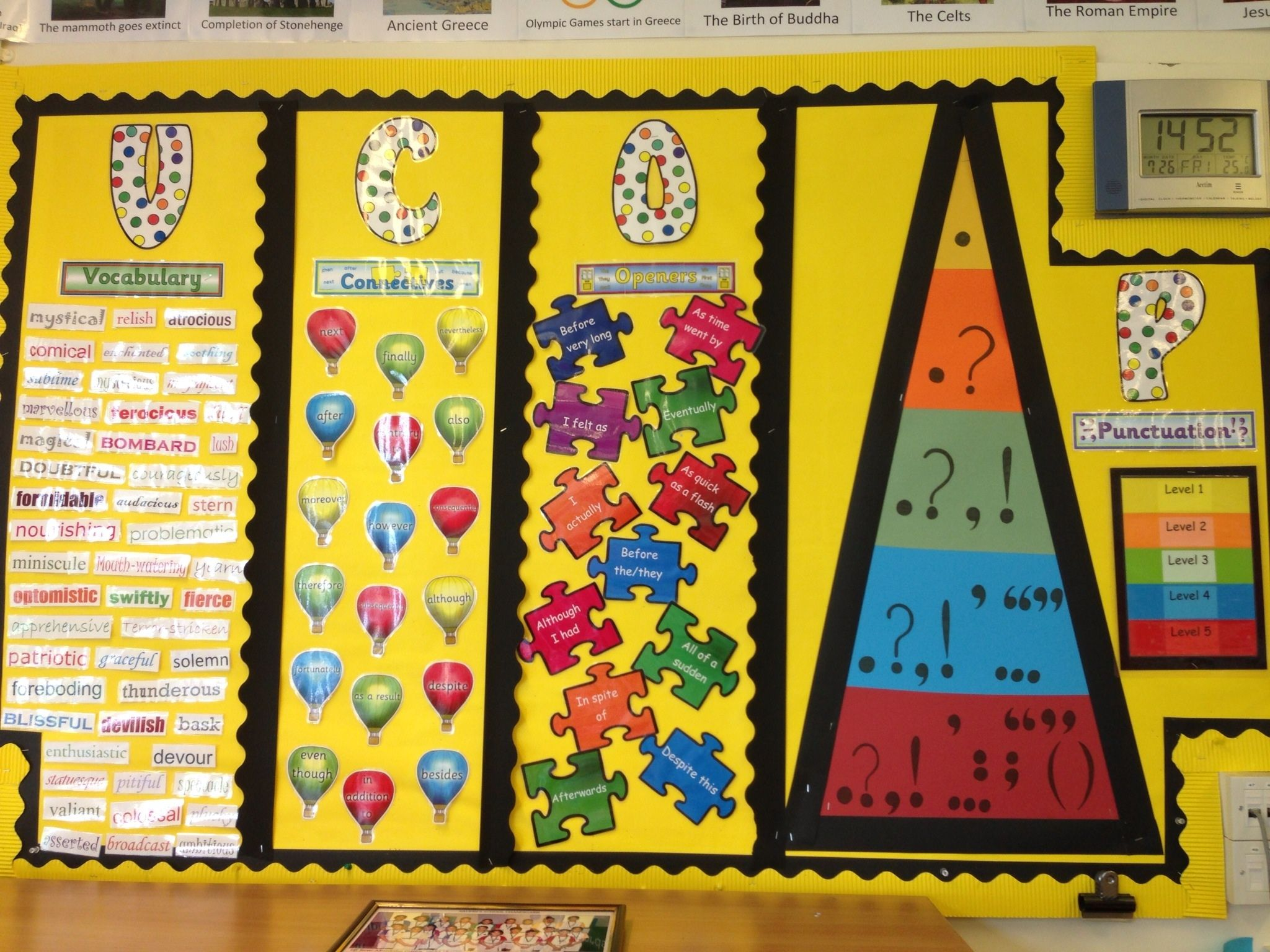 My VCOP Display For My Year 5 Class, I'm Really Pleased