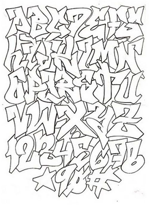 Graffiti Alphabet For Graffiti Project Graffiti Pinterest