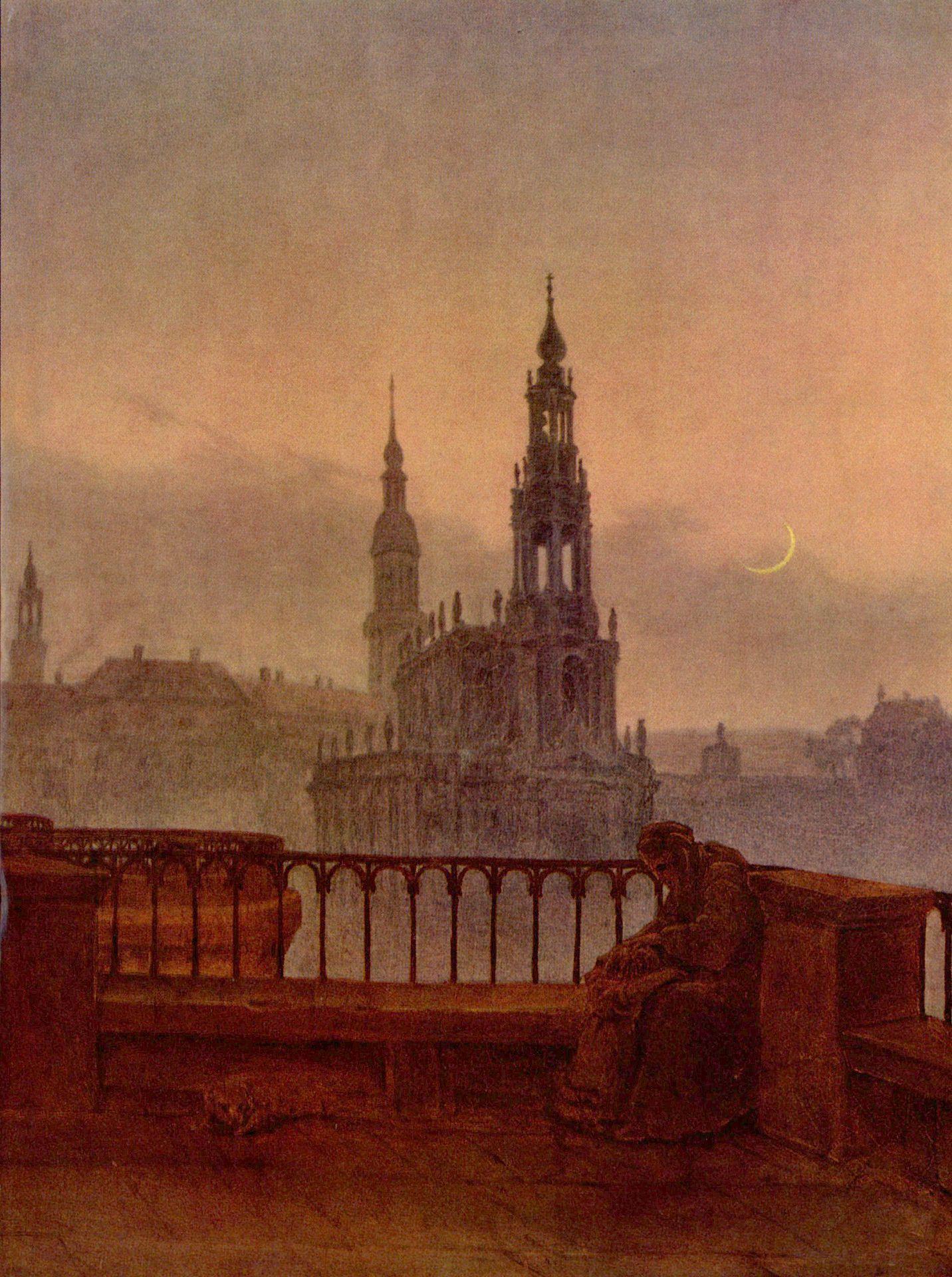 Vista Sobre Dresden Desde La Terraza De Bruhl Carl Gustav Carus C 1830 1831 Pinturas Romanticas Arte Arte Abstracto