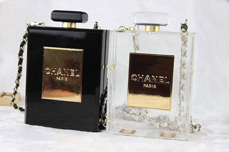 f61f5b723ff736 Chanel No. 5 Perfume Bottle Clutch Replica via shopdreamdust.com ...