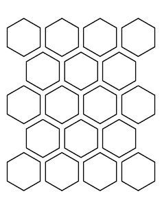 2 inch hexagon pattern. Use the printable outline for