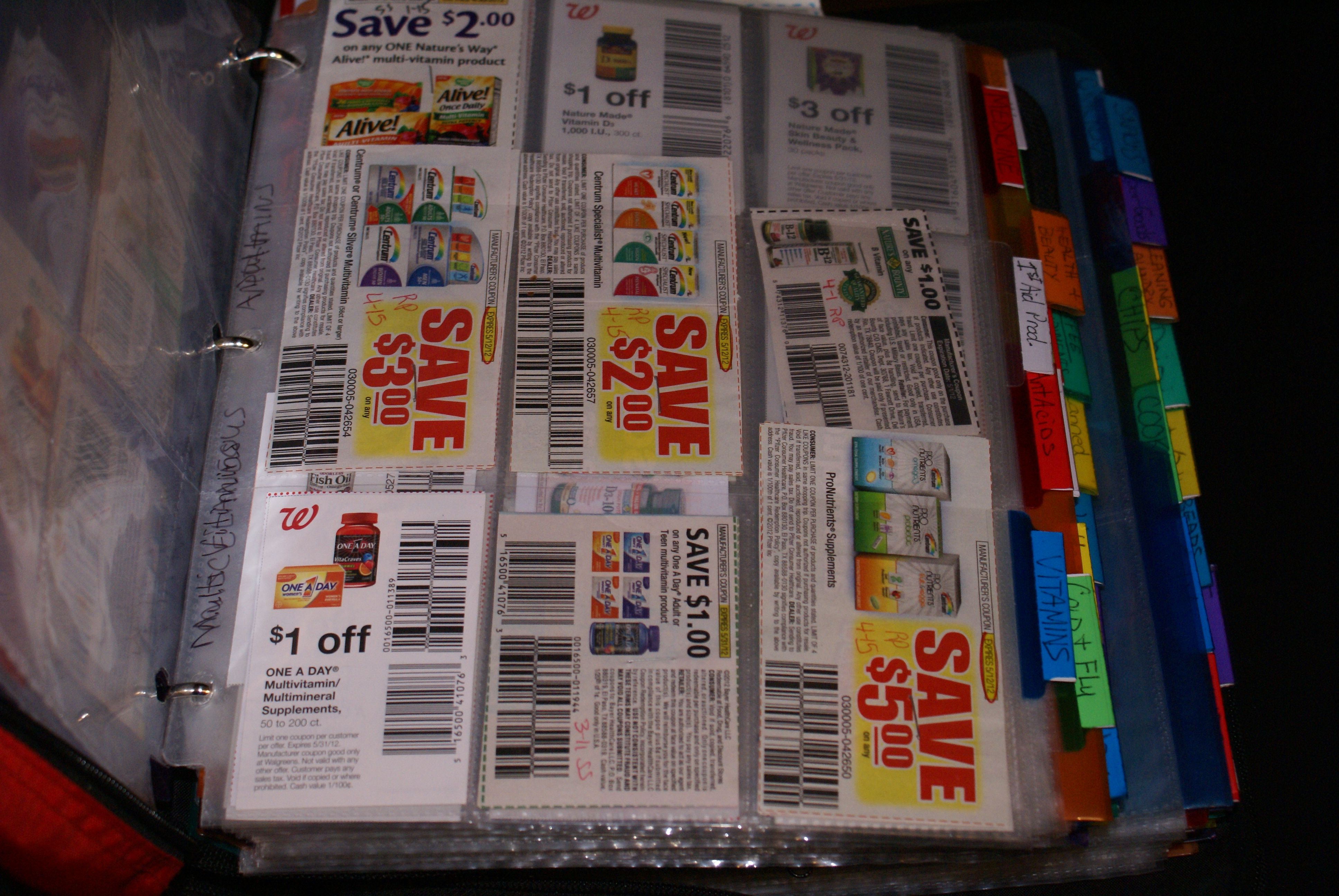 High Dollar Or Rare Coupons On A Printable Spreadsheet