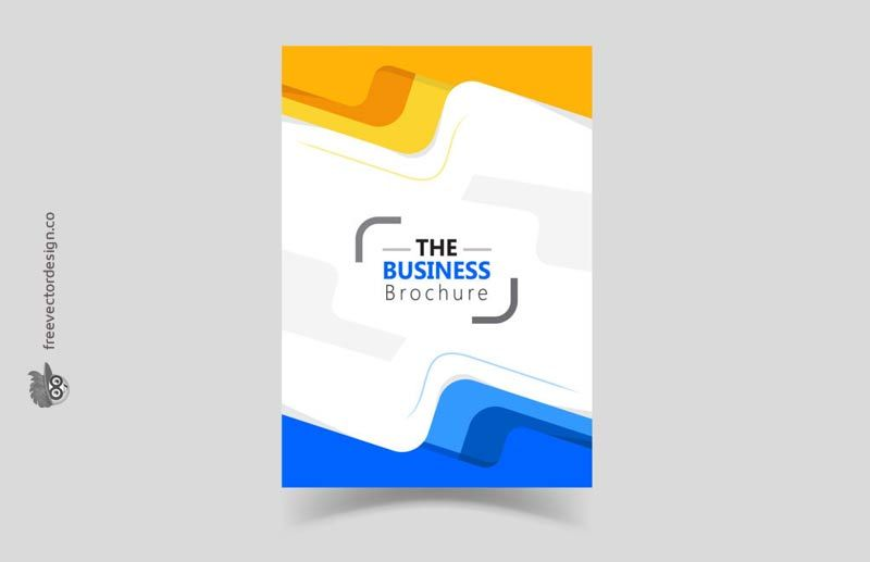 modern abstract corporate brochure template free download free