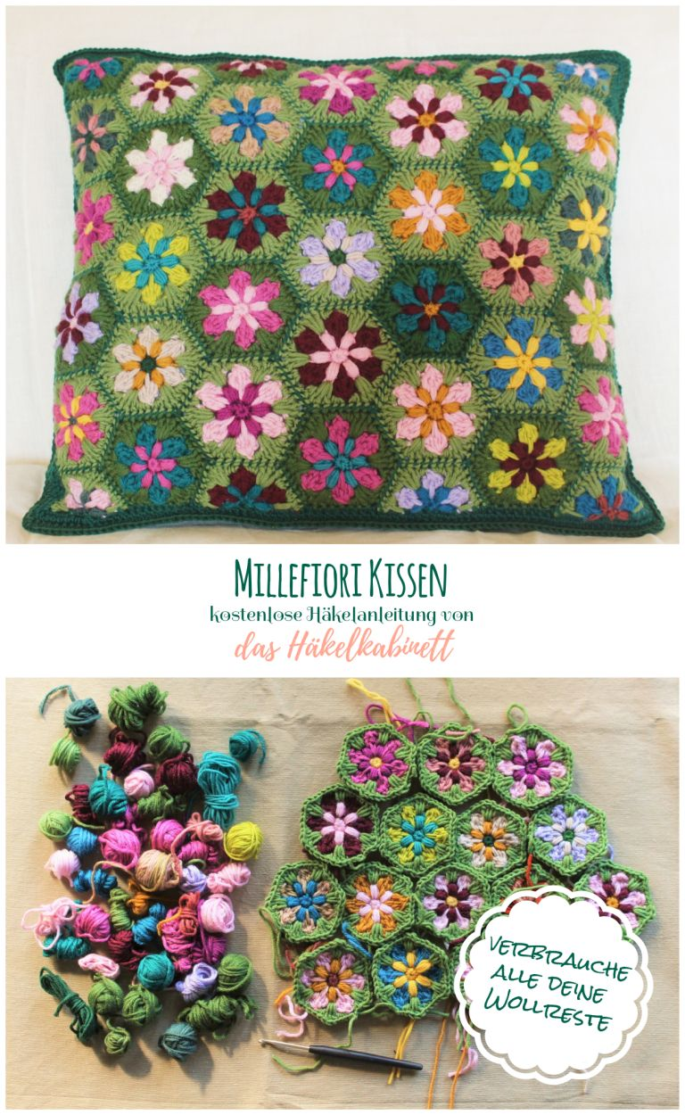 Photo of Millefiori pillow | the crochet cabinet