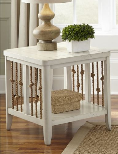 White-End-Table-Knotted-Ropes-Coastal-Distressed-Eclectic-Planks-Storage-Casual