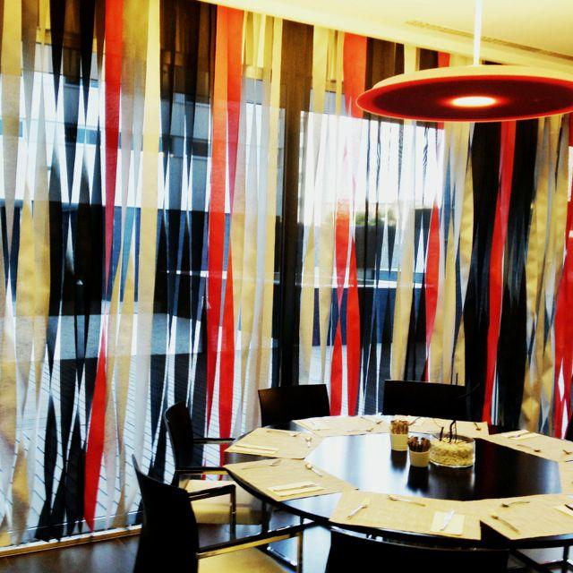 Cortinas de lamas verticales combinadas hotel axor feria madrid cortinas lamas verticales - Cortinas verticales madrid ...