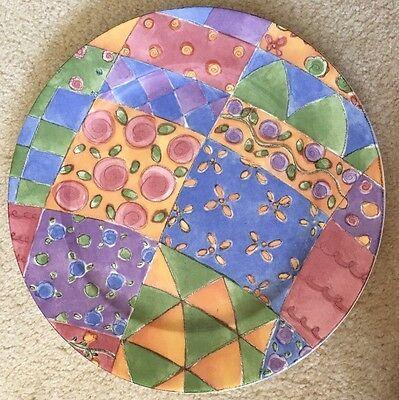Sango Sue Zipkin Sweet Shoppe Chop Plate Round Platter 0916 Biscuit 12.5