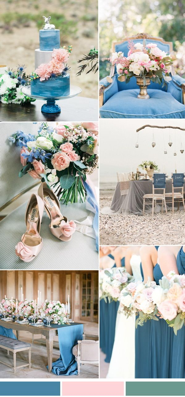 Springsummer wedding color ideas 2017 from pantone niagara niagara blue and blush spring summer wedding color ideas 2017 junglespirit Gallery