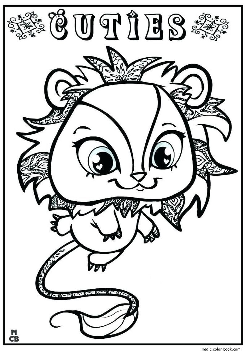 Littlest Pet Shop - Zoe Trent Coloring Page | Coloring Page Central | 1139x800