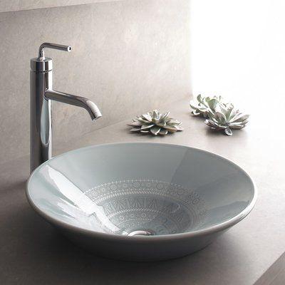Kohler Caravan Ceramic Circular Vessel Bathroom Sink in 2018