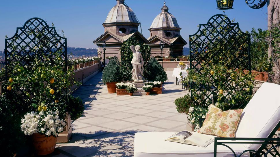 Rooftop terrace at Hotel Hassler Roma, Rome, Italy   Spotlight ...