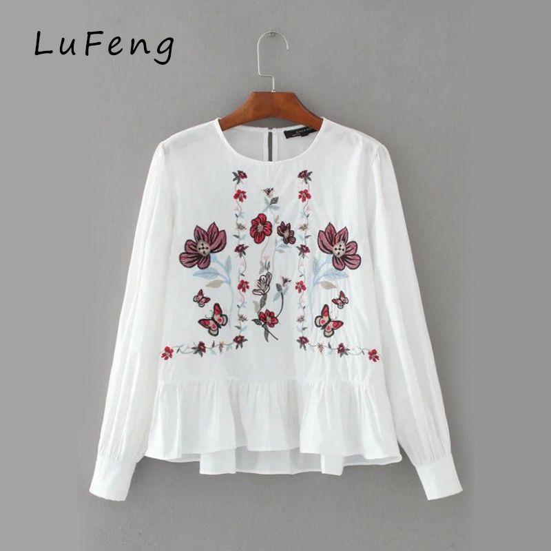Cheap Bordado Peplum Blusas Blanco Tops de Las Mujeres de Boho de La Vendimia 2017 de Corea Ropa de Mujer Camisetas Mujer Haut Chemise Femme 1587OL 1213 camisetas ropa blusas femininas 2016 e camisas kimono tallas grandes, Compro Calidad directamente de los surtidores de China: [xlmodel]-[costumbre]-[28796] [xlmodel]-[costumbre]-[28796] [xlmodel]-[costumbre]-[28796] [xlmodel]-[cost