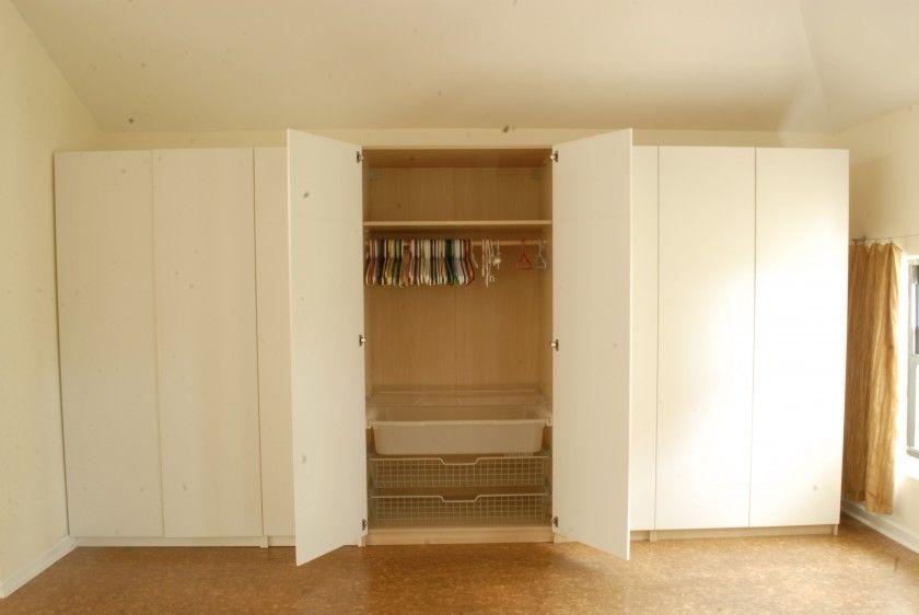 Amazing White Buit In Hidden Door Bedroom Wall Units With Clothing