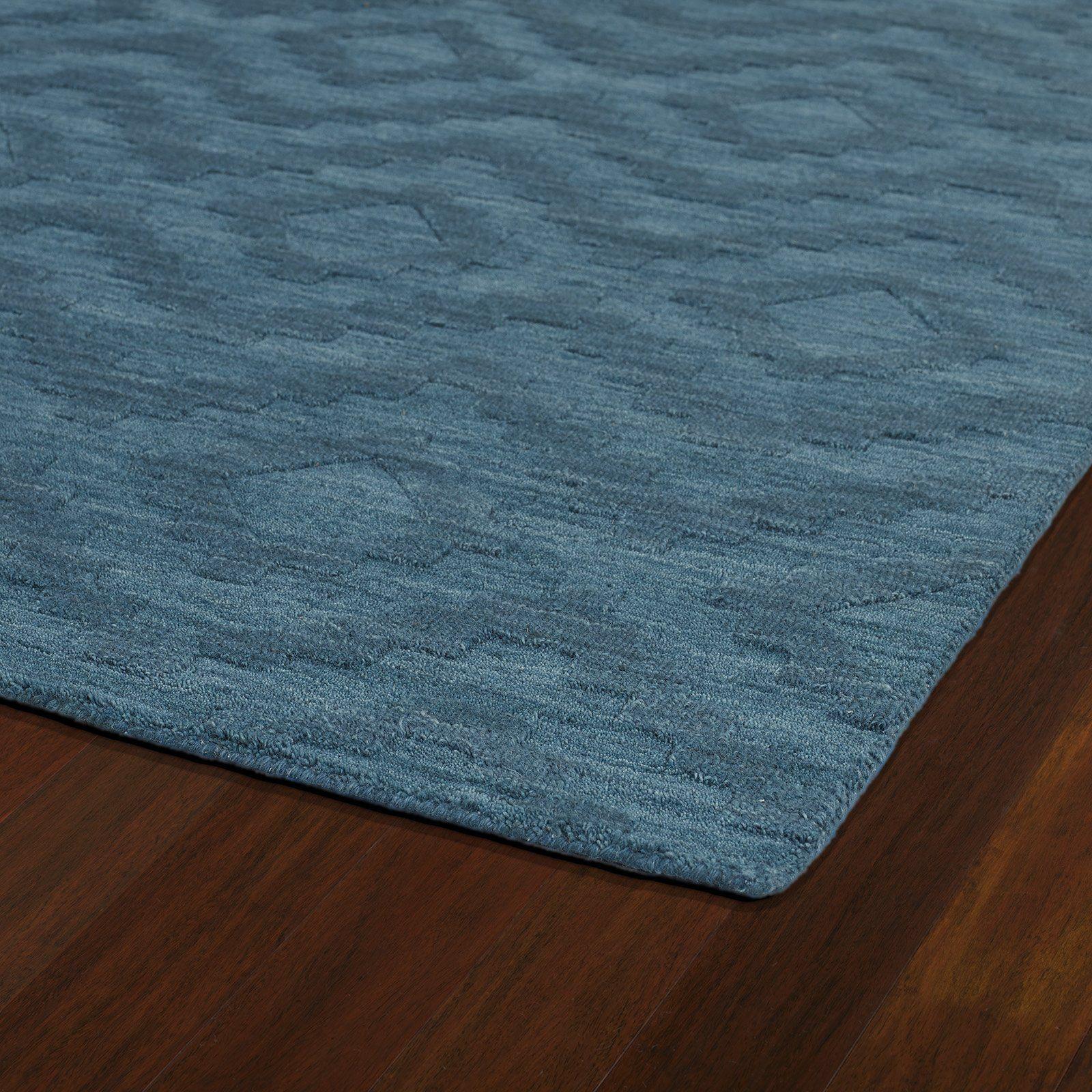 Ebern Designs Dobson Tufted Turquoise Geometric Area Rug Turquoise Rug Modern Wool Rugs Geometric Area Rug