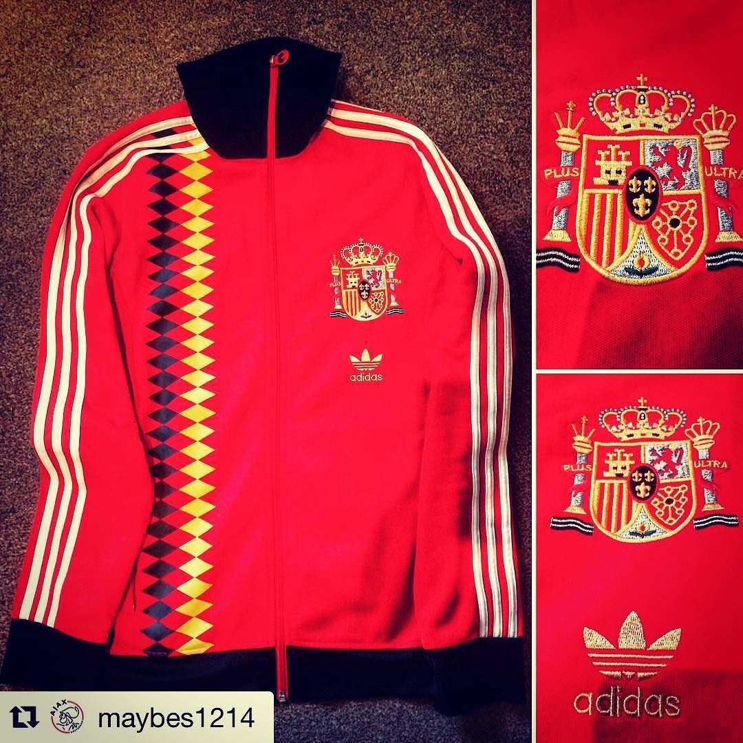 low priced 1ba5e 9cfc3  Repost Euro96 Spain track top from  maybes1214 Spain 1996 Euro  Championship Training Tracksuit  adidas  spain  football  footballjersey ...