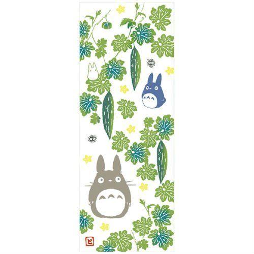My Neighbor Totoro bitter gourd towel/tenugui, 33 x 90 cm, made in Japan (US $20)