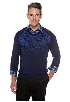 huge discount e934d 7de7b MADE Cam Newton V-Neck Intarsia Sweater | Swag | Mens tops ...