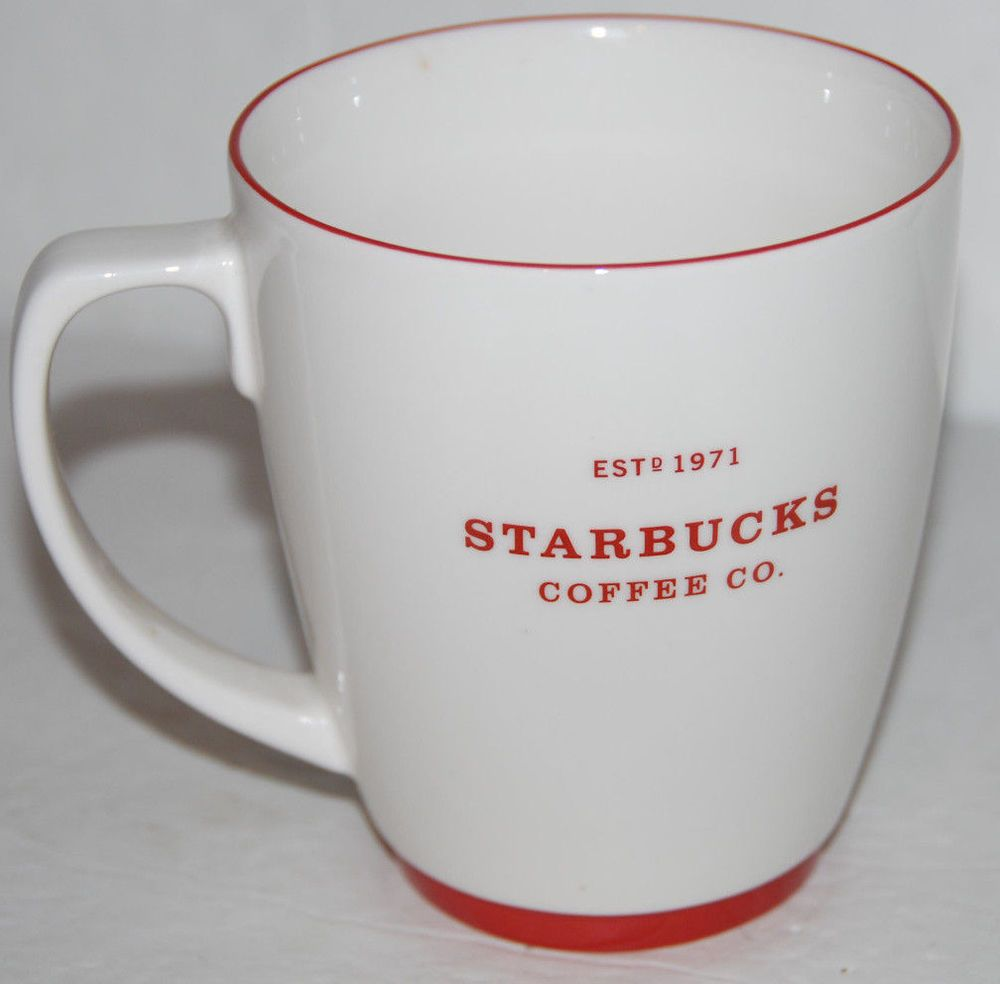 With Starbucks Est 2008 1971 White Lettering Cup 16oz Coffee Mug Red EWH2IYD9