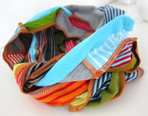 16++ Schal aus stoffresten naehen Sammlung