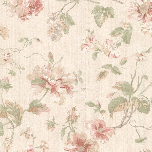 2530-20551 Pink Peony Trail - Marnie - Satin Classics IX Wallpaper by Mirage