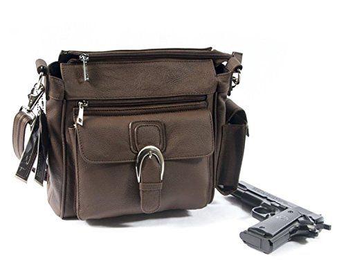 6eb1fde04210 Roma Leather Pistol Concealment Purse w/Buckle   Shoulder Bag ...