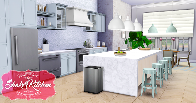 Sims 4 Cc S The Best Shaker Kitchen By Peacemaker Ic S I M S 4