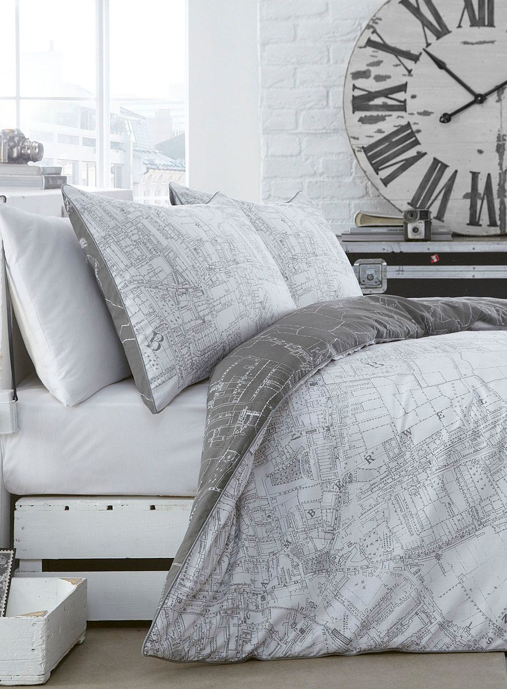 Map printed bedding set bhs bedroom inspiration pinterest map printed bedding set bhs gumiabroncs Choice Image