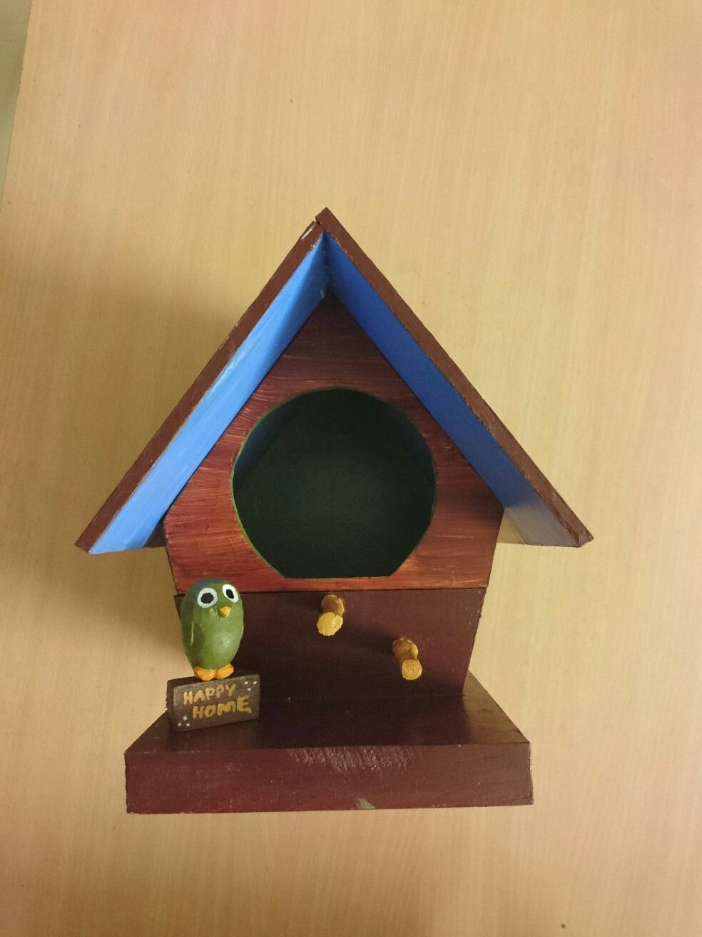 """Free Homestay for birds"" Interested birds contact : x-x-x-x-x-x #birdhouse #art #homemade #fun #birds #carving #woodwork"