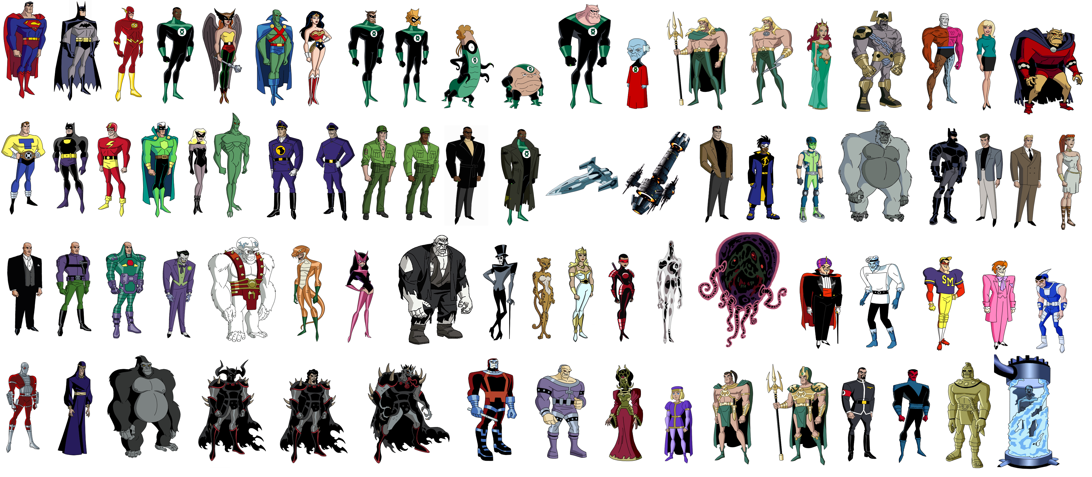 Justice League Unlimited characters designs by Bruce Timm ...