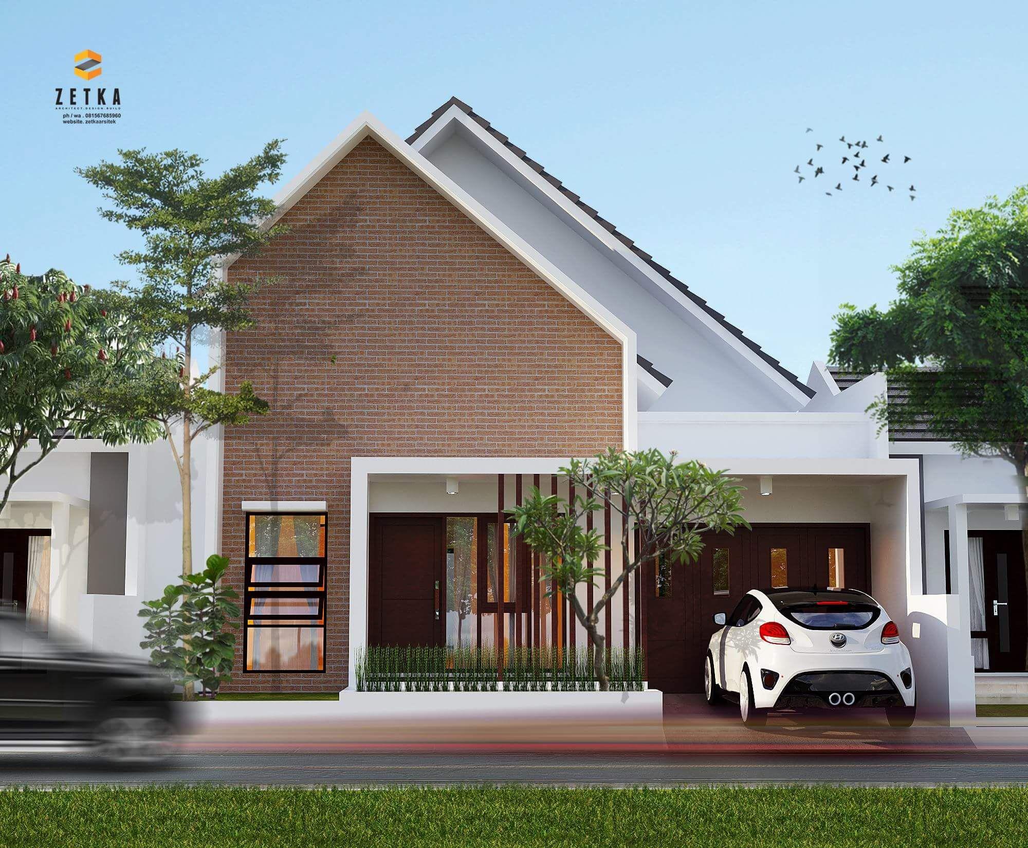 100 Gambar Rumah Sederhana Atap Miring Terbaru