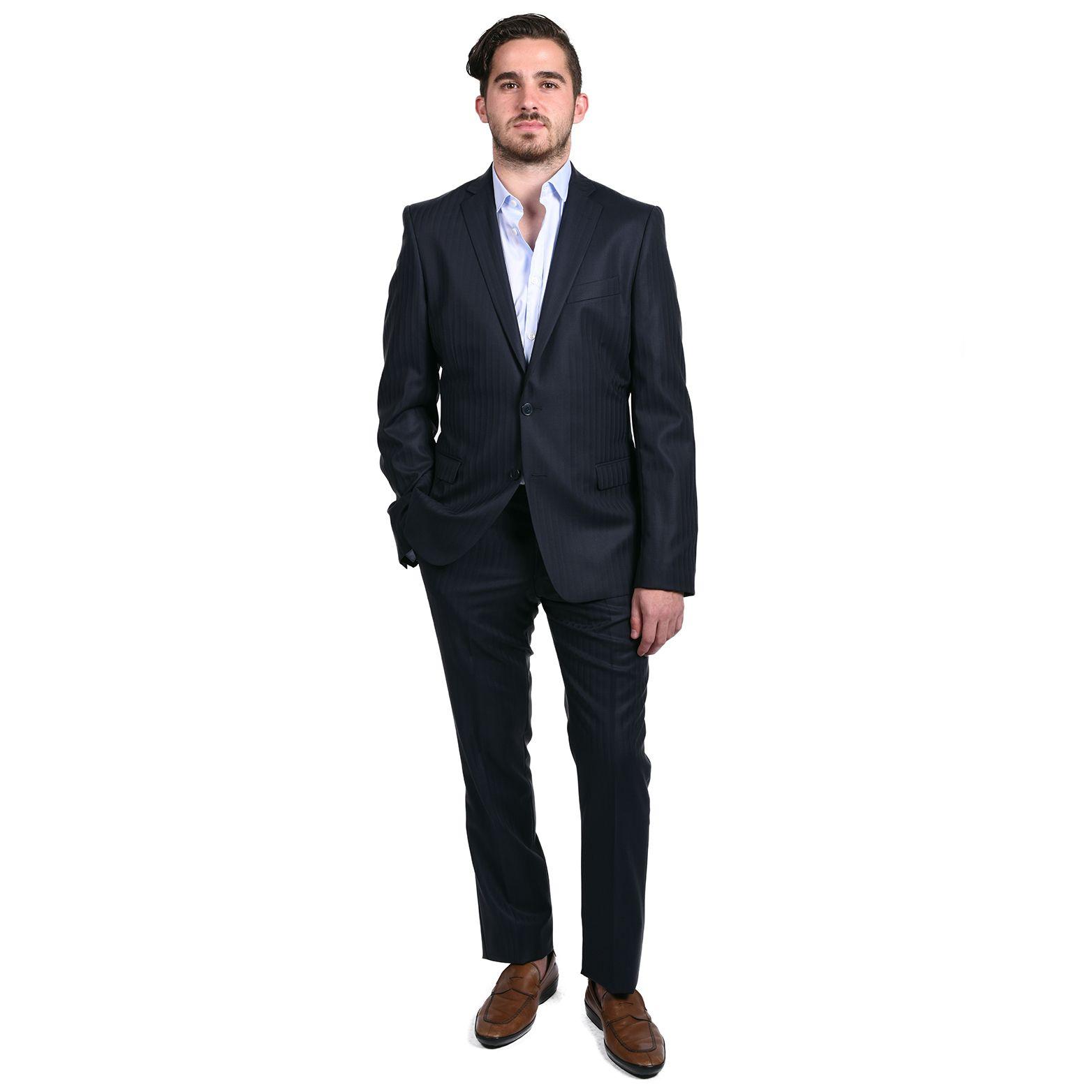 Men's grey flannel trousers  Versace Collection Menus Pin Twopiece Suit  Products  Pinterest