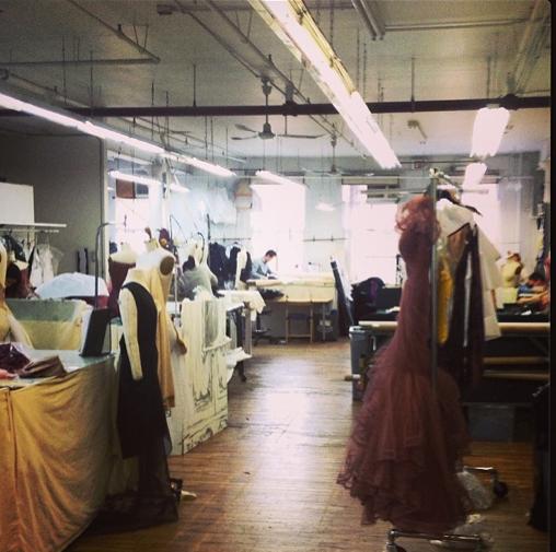 The #zacposen #studio today.
