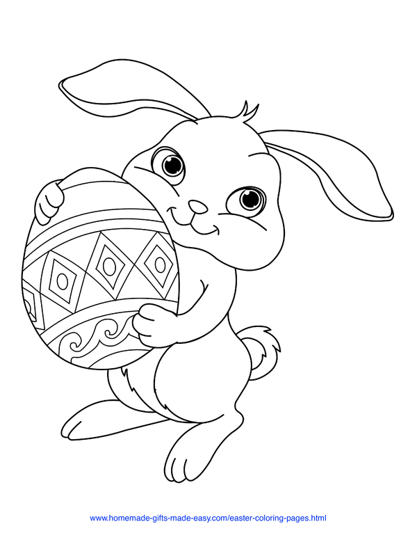 Free Easter Coloring Pictures Download