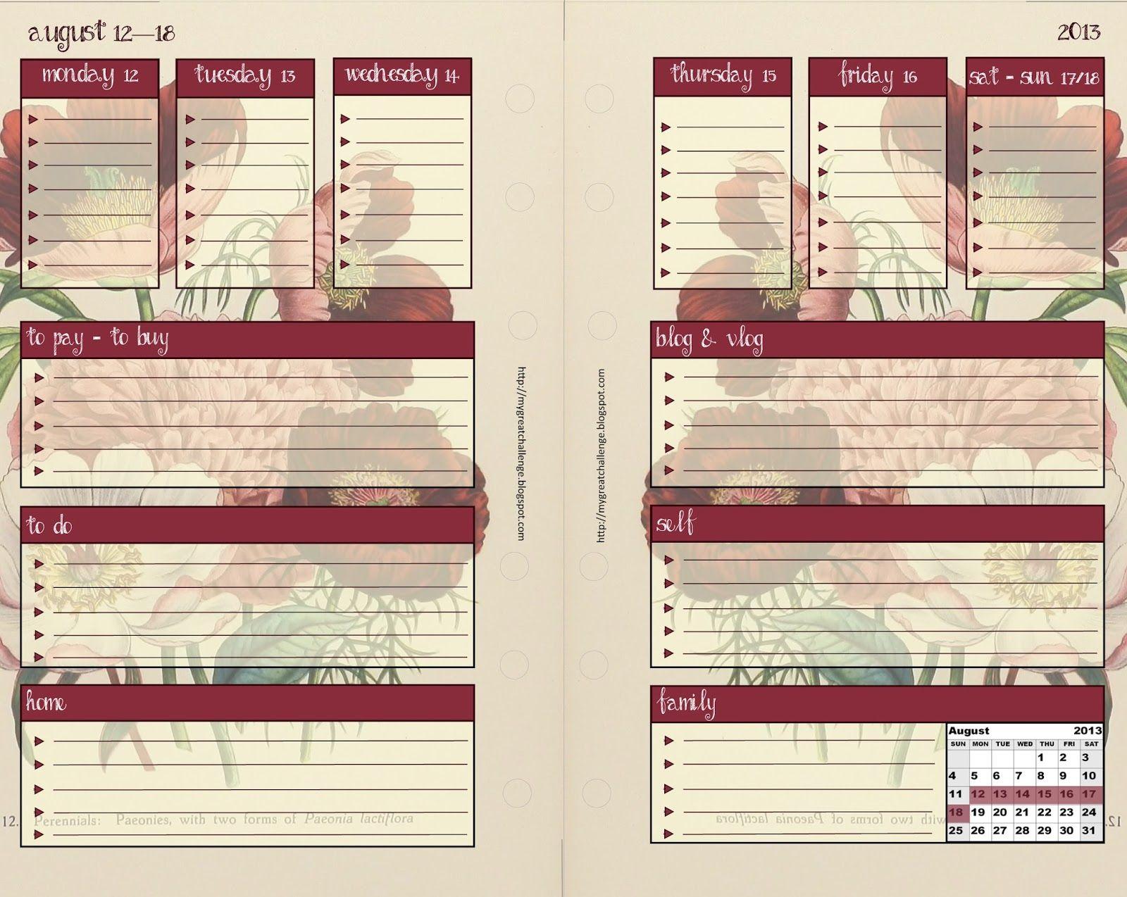 Free Filofax Templates Free Filofax Download