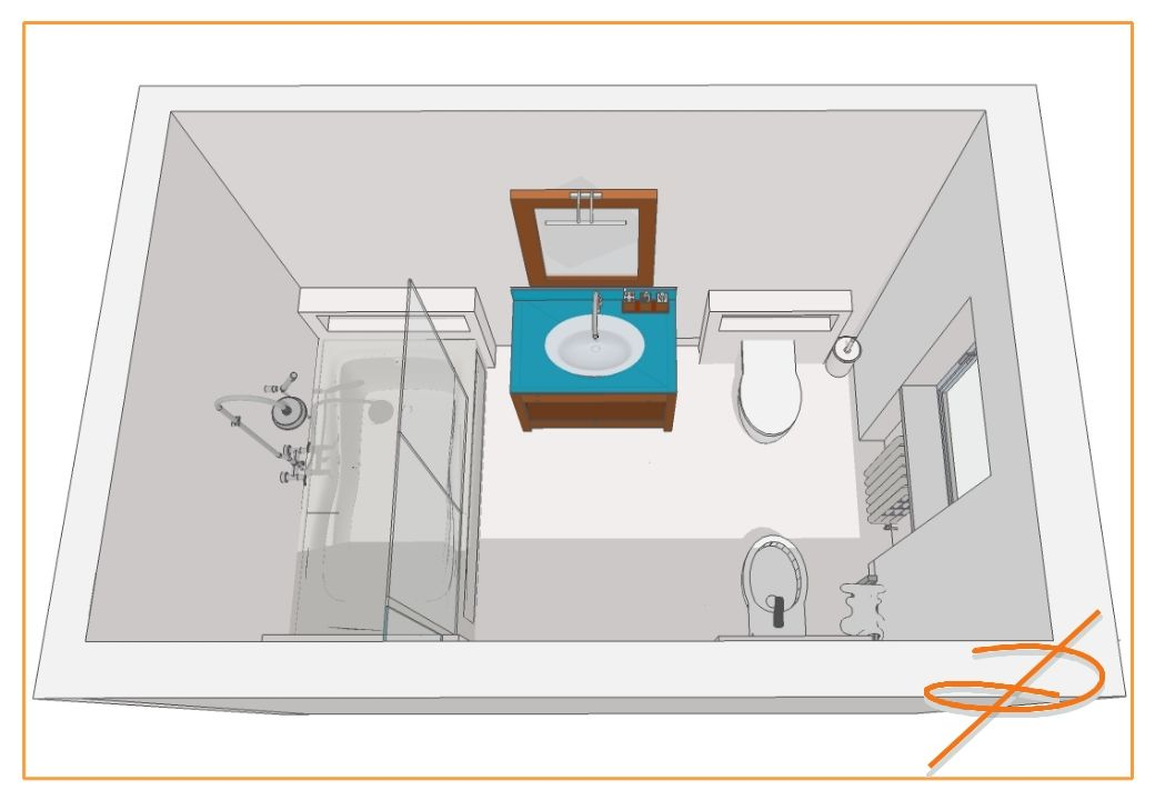 Progetto bagno 4 mq quadrato cerca con google bagno - Progetto bagno piccolo ...