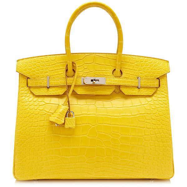 Moda Operandi's Hermes Trunkshow Includes a $115,000 Alligator Birkin... ❤ liked on Polyvore featuring bags, birkin and hermes