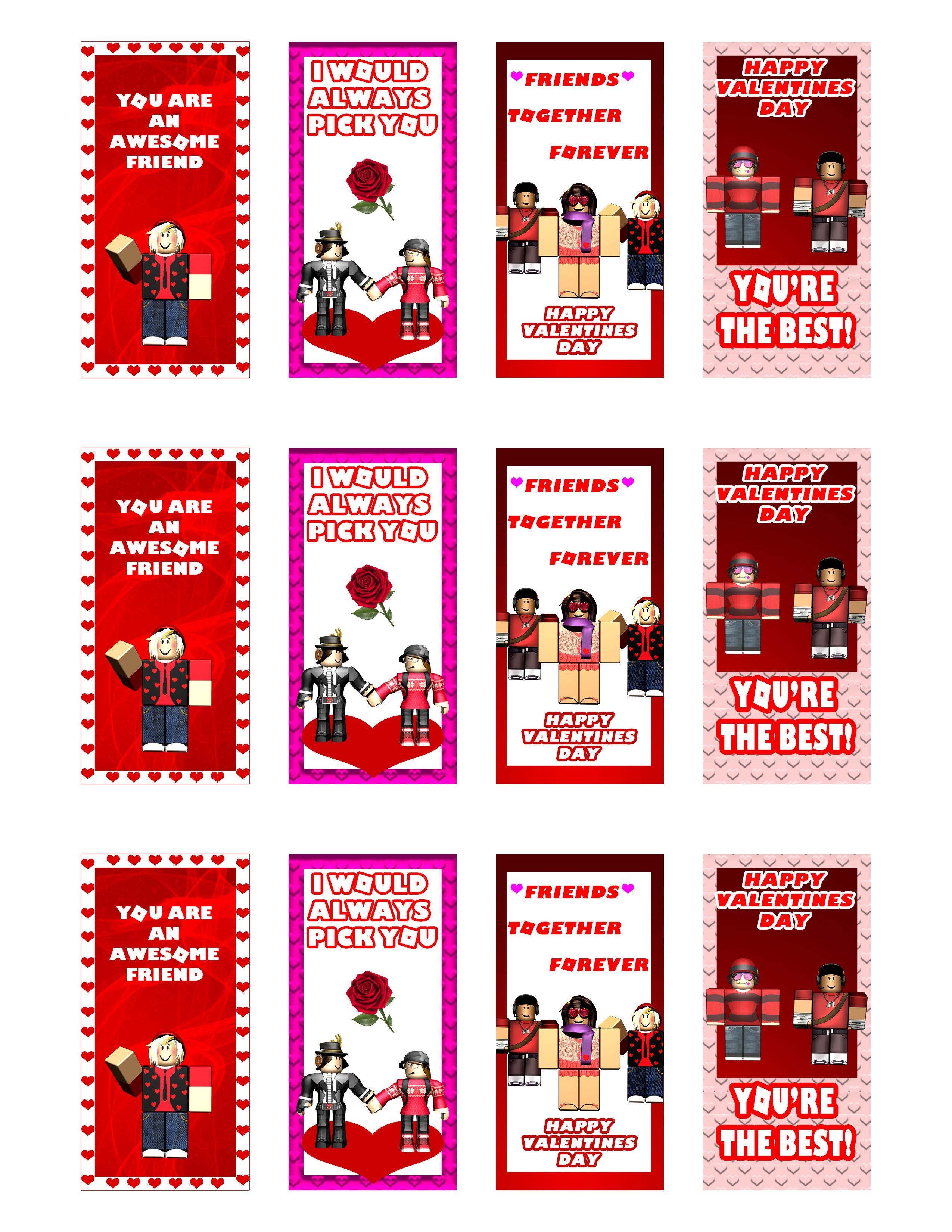 Roblox Valentine Cards Printable Valentines Cards Valentine S Cards For Kids Valentines For Kids