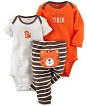 Carter's Baby Boys' 3-Piece Tiger Bodysuits & Pants Set